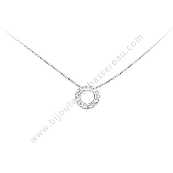 collier ras de cou pendentif diamant