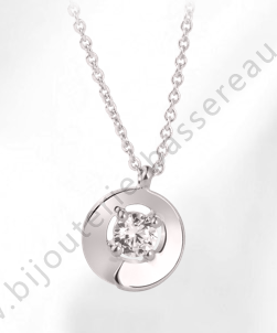 collier or blanc diamant envol garel 44AG20G