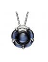 collier argent fleur B flower cristal baccarat 2806585