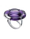 bague violet fleur flower baccarat 28065