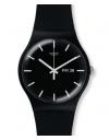 montre noire swatch SUOB720